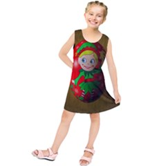 Christmas Wreath Ball Decoration Kids  Tunic Dress
