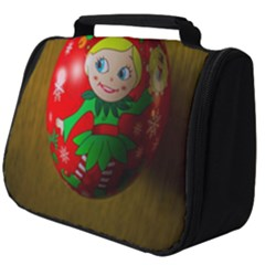 Christmas Wreath Ball Decoration Full Print Travel Pouch (big)