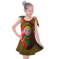 Christmas Wreath Ball Decoration Kids  Tie Up Tunic Dress