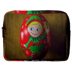 Christmas Wreath Ball Decoration Make Up Pouch (large)