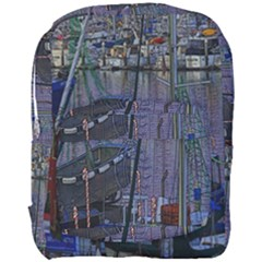 Christmas Boats In Harbor Full Print Backpack