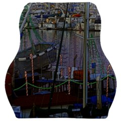 Christmas Boats In Harbor Car Seat Velour Cushion