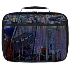Christmas Boats In Harbor Full Print Lunch Bag