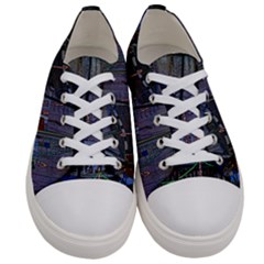 Christmas Boats In Harbor Women s Low Top Canvas Sneakers