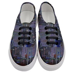Christmas Boats In Harbor Women s Classic Low Top Sneakers