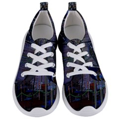 Christmas Boats In Harbor Women s Lightweight Sports Shoes