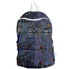 Christmas Boats In Harbor Foldable Lightweight Backpack