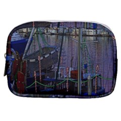 Christmas Boats In Harbor Make Up Pouch (small)