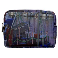 Christmas Boats In Harbor Make Up Pouch (medium)