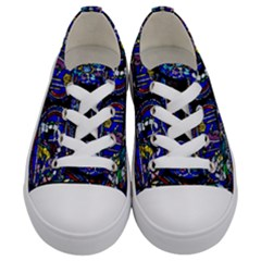Church Window Canterbury Kids  Low Top Canvas Sneakers