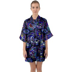 Church Window Canterbury Quarter Sleeve Kimono Robe by Wegoenart