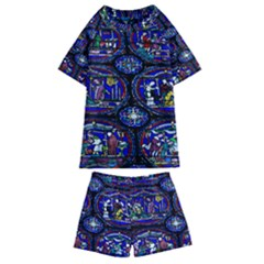 Church Window Canterbury Kids  Swim Tee And Shorts Set