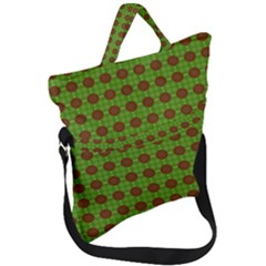 Christmas Paper Wrapping Patterns Fold Over Handle Tote Bag by Wegoenart
