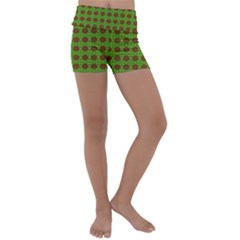 Christmas Paper Wrapping Patterns Kids  Lightweight Velour Yoga Shorts