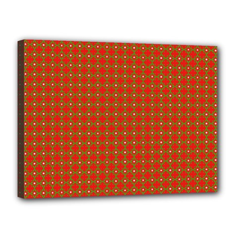 Christmas Paper Wrapping Paper Pattern Canvas 16  X 12  (stretched)
