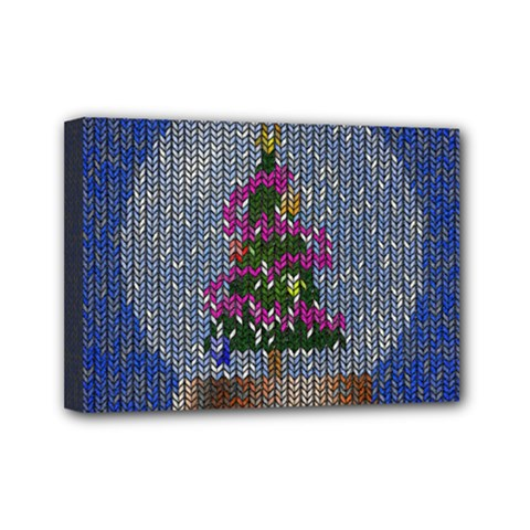 Christmas  Snow Mini Canvas 7  X 5  (stretched) by Wegoenart