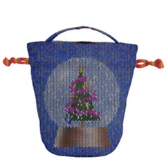 Christmas  Snow Drawstring Bucket Bag by Wegoenart