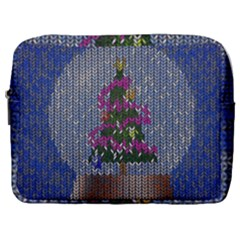 Christmas  Snow Make Up Pouch (large) by Wegoenart