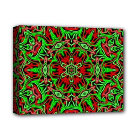 Christmas Kaleidoscope Pattern Deluxe Canvas 14  X 11  (stretched)