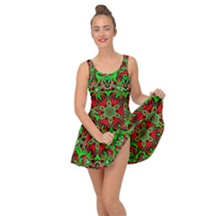 Christmas Kaleidoscope Pattern Inside Out Casual Dress
