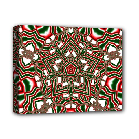 Christmas Kaleidoscope Deluxe Canvas 14  X 11  (stretched)