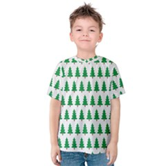Christmas Background Christmas Tree Kids  Cotton Tee