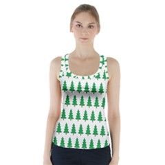 Christmas Background Christmas Tree Racer Back Sports Top by Wegoenart