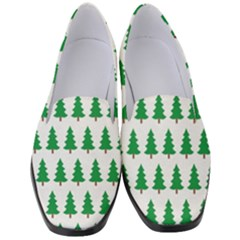 Christmas Background Christmas Tree Women s Classic Loafer Heels