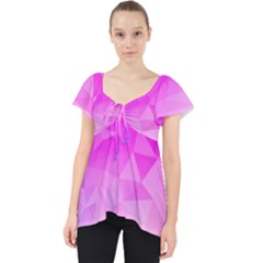 Low Poly Triangle Pattern Lace Front Dolly Top