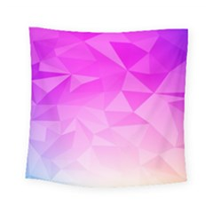 Low Poly Triangle Pattern Square Tapestry (small)