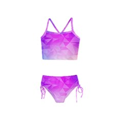 Low Poly Triangle Pattern Girls  Tankini Swimsuit
