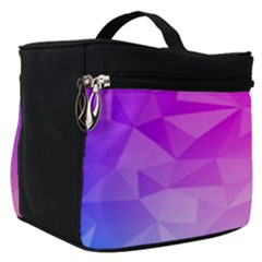 Low Poly Triangle Pattern Make Up Travel Bag (small)