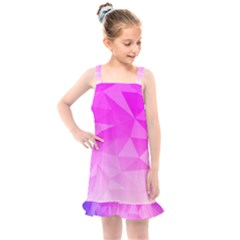 Low Poly Triangle Pattern Kids  Overall Dress