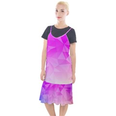 Low Poly Triangle Pattern Camis Fishtail Dress
