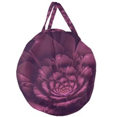 Fractal Blossom Flower Bloom Giant Round Zipper Tote