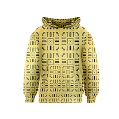 Pattern Background Abstract Design Kids  Pullover Hoodie