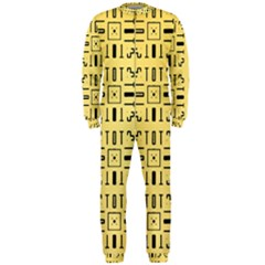 Pattern Background Abstract Design Onepiece Jumpsuit (men)