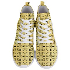 Pattern Background Abstract Design Men s Lightweight High Top Sneakers
