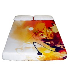 Paint Splash Paint Splatter Design Fitted Sheet (queen Size) by Wegoenart