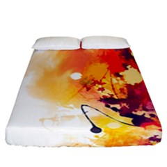 Paint Splash Paint Splatter Design Fitted Sheet (california King Size) by Wegoenart