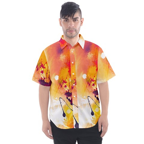 Paint Splash Paint Splatter Design Men s Short Sleeve Shirt by Wegoenart