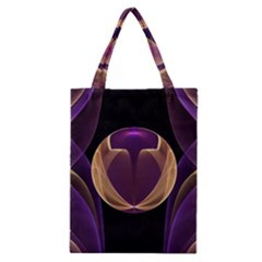 Fractal Glass Ball Bright Sphere Classic Tote Bag