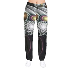 Fractal Bulbs Fantasy Curve Velvet Drawstring Pants