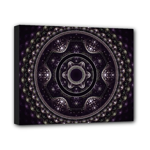 Fractal Mandala Circles Purple Canvas 10  X 8  (stretched)