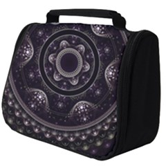 Fractal Mandala Circles Purple Full Print Travel Pouch (big) by Wegoenart