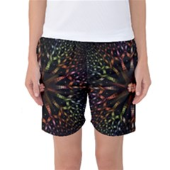 Fractal Colorful Pattern Texture Women s Basketball Shorts
