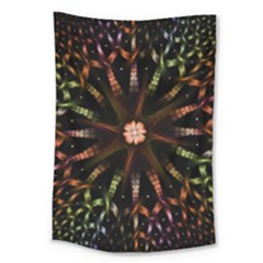 Fractal Colorful Pattern Texture Large Tapestry