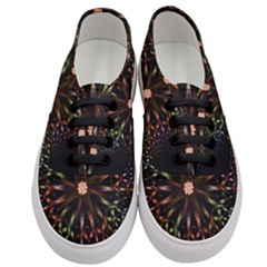 Fractal Colorful Pattern Texture Women s Classic Low Top Sneakers