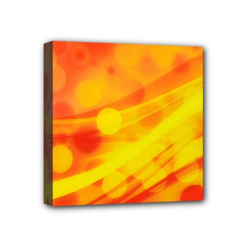 Abstract Background Design Mini Canvas 4  X 4  (stretched)