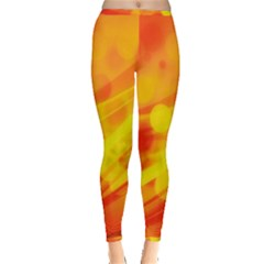 Abstract Background Design Inside Out Leggings